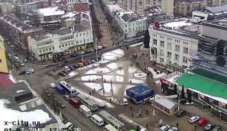 Авария в центре Хмельницкого создала пробки (ВИДЕО)