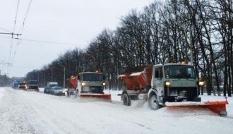 Дороги Хмельнитчины этой ночью очищали 88 единиц техники и 240 работников