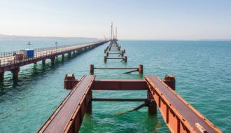 Морозы не повлияли на строительство Керченского моста