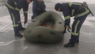 На Южном Буге под лед провалился рыбак