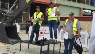 Операторы дорожно-строительной техники соревновались в Тбилиси