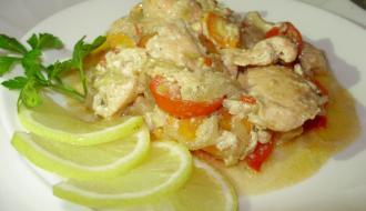 Семга с овощами на сковородке (экспресс-рецепт)