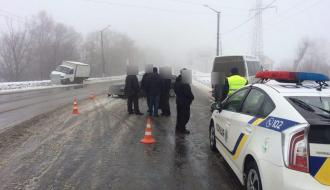 Утром в Хмельницком попали в ДТП сразу четыре автомобиля