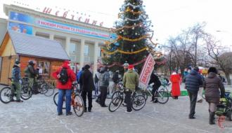 В Хмельницком снова устроят новогодний велопарад