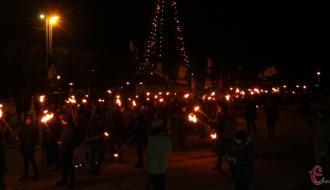 В Хмельницком впервые отметили День рождения Бандеры факельным маршем (ФОТО, ВИДЕО)