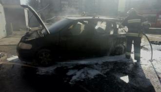 В Каменце-Подольском горел автомобиль