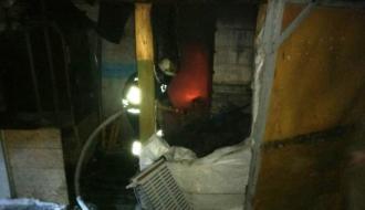 В Каменец-Подольском районе из-за замыкания электросети сгорел киоск