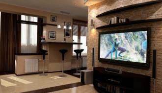 Создание дизайна в трехкомнатной квартире