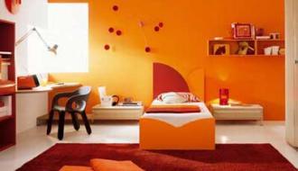 Ремонт квартиры в оранжевых тонах