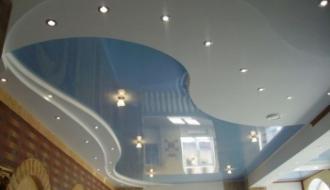 Натяжные двухуровневые потолки: особенности и преимущества