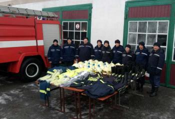 Чехи передали спасателям Изяславского района снаряжение и защитную одежду