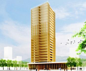Деревянный небоскреб планируют построить в Токио