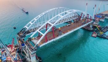 Сдана автомобильная часть моста через Керченский пролив
