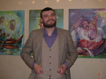 Смелые эксперименты с краской. В Хмельницком открылась выставка молодого изяславского художника