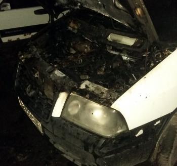 В Хмельницком на Молодежной загорелась машина
