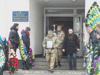 В Хмельницком попрощались с бойцом АТО Александром Яворским