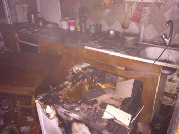 В Виньковцах среди ночи горела квартира